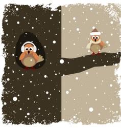 winter theme vector image vector image