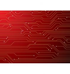 circuit board red vector image