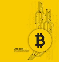 Crypto currency bitcoin vector