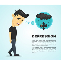 depression infographic concept flat vector image vector image