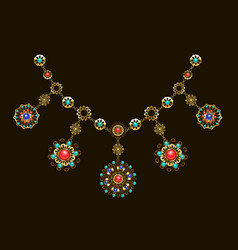 ethnic necklace vector image