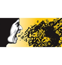 Feelings of anger vector image vector image