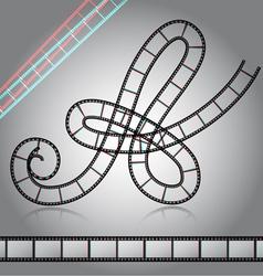 Film tape alphabet letter vector image