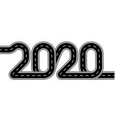 2020 new year the road is stylized as an vector