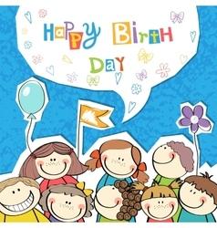a Happy Birthday vector image