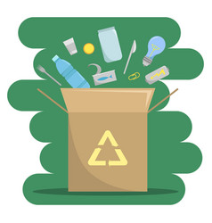 About the industry of waste recycling nature vector