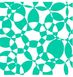 abstract background teal intersecting circles vector image