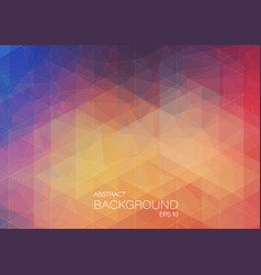 abstract color background with triangle shapes vector image