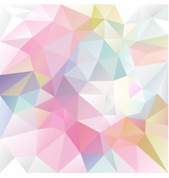Abstract irregular polygon background pastel vector
