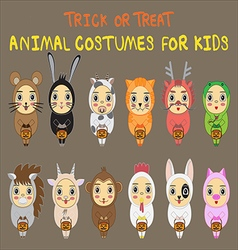 Animal costumes vector