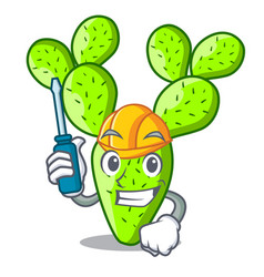 Automotive cartoon the prickly pear opuntia cactus vector