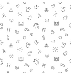 baby or pregnancy seamless pattern Newborn vector image