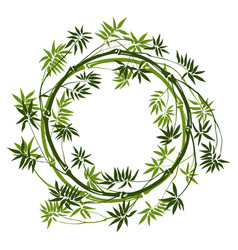 Bamboo round frame vector