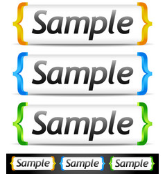 Banners in brackets vector