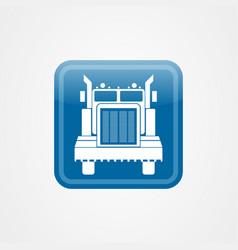 Big truck icon logo design template vector