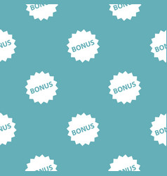 bonus sign pattern seamless blue vector image