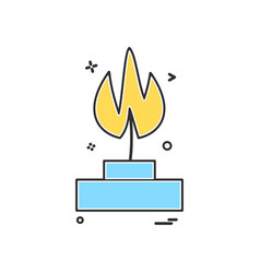 burner lab icon design vector image