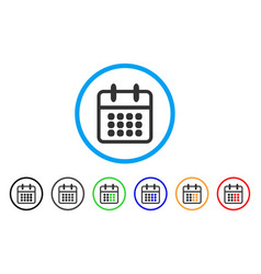 calendar rounded icon vector image