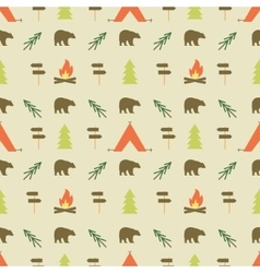 Camping elements pattern camping seamless vector