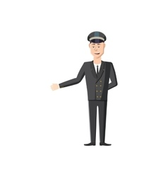 Chauffeur icon in cartoon style vector