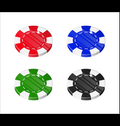 chips casino cartoon style isolated set vector image