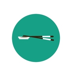 Chopsticks for sushi and soy sauce vector image
