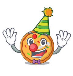clown pizza mascot cartoon style vector image