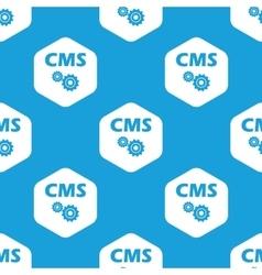 CMS settings hexagon pattern vector