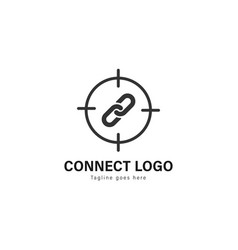 connect logo template design connect logo with vector image