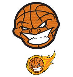 crazy basketball ball vector image