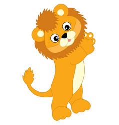 Cute balion standing lion cub vector