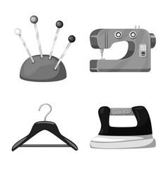 Design dressmaking and textile symbol vector