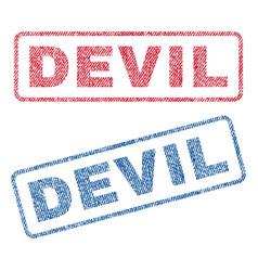 Devil textile stamps vector
