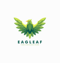 eagle leaves template vector image