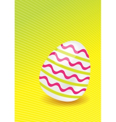 easter egg with lines vector image