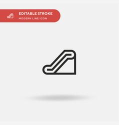 Escalator simple icon symbol vector