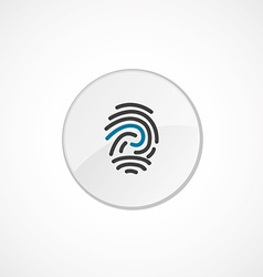 Fingerprint icon 2 colored vector
