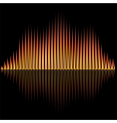 flame flare equalizer bars on black background vector image