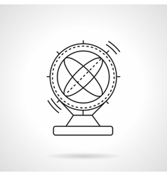 Flat line magnetic pendulum icon vector