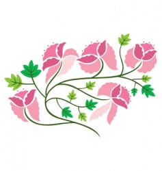 flower decoration vector image