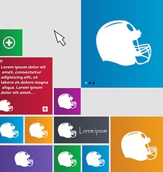 football helmet icon sign buttons Modern interface vector image