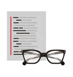 glasses document coding web development vector image