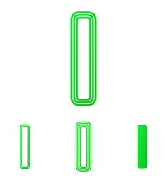 Green letter i logo design set vector