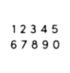 halftone alphabet font dot numbers vector image