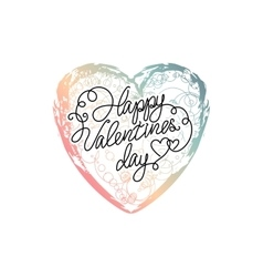Hand drawn ombre heart vector