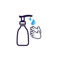 hand sanitizer icon design template isolated vector image