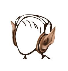headphones as elf ears vector image