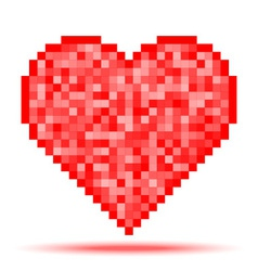 Heart Pixel Icon vector image vector image