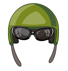 Helmet for protection army vector