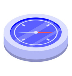 Hiking compass icon isometric style vector